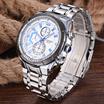 Men s sports steel watch waterproof white dial mechanical watch