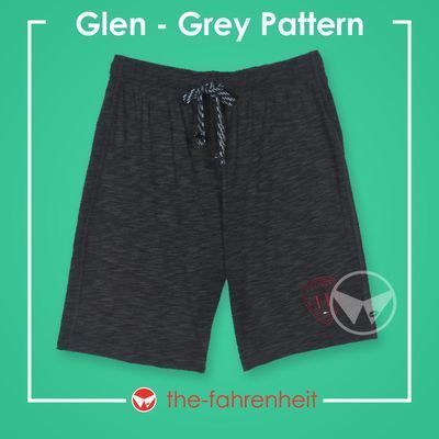 Glen Comfy Tie-Waist Shorts For Mangrey Pattern