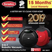 *2019 NEW UPGRADE* EuropAce Robotic 2-IN-1 Vacuum Cleaner (Wet