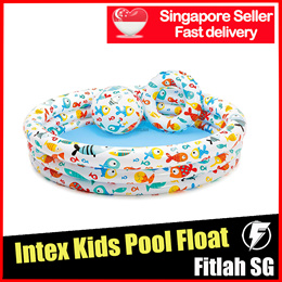 Intex Inflatable Big Swimming Pool Floats With Ball Ring Float House Home Private Landed Water Fun