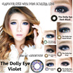Mini Schlera Lens ==THE DOLLY EYE - GLAMOUR== KING SIZE SOFTLENS 22.8mm 62% water content