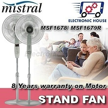 ★ Mistral MSF1679R/ MSF1678/ MSF1643 Stand Fan ★ (8 Years Warranty for Fan Motor Only)