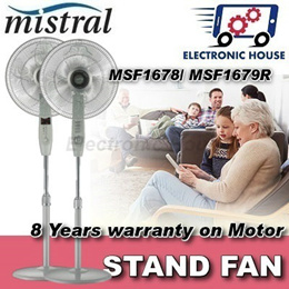 ★ Mistral MSF1679R/ MSF1678/ MSF1643/ MSF1645R Stand Fan ★ (8 Years Warranty for Fan Motor Only)
