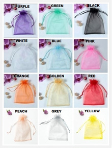 Organza Drawstring Pouches/Organza Bag/Gift Bag/Party Bag/Goodie Bag/Velvet/Present/Wedding/Event