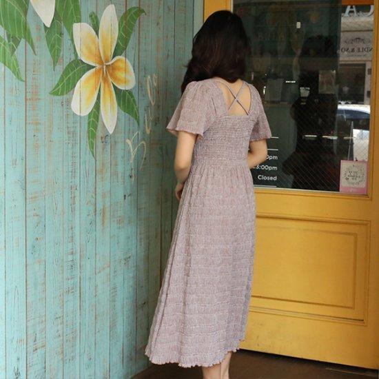 ビナインだシーズバンディングチェックワンピース プリントのワンピース/ 韓国ファッション