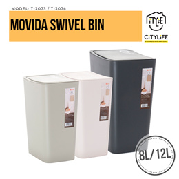 Citylife Movida Swivel Keyboard WasteBin 8L or 12L  *Elegant Design