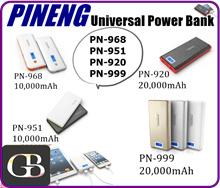 PINENG High Quality Universal Power Bank PN968/951/920/999 10000mAh 20000mAh Dual USB Flashlight Portable Charger