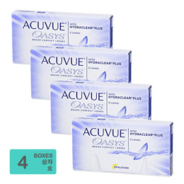 [Free Shipping] Johnson and Johnson Acuvue Oasys with Hydraclear Plus BC 8.80mm (6pcs/box) x4
