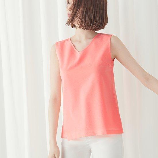 ナインNAINシンプルブイネクのブラウスBL2577 面ワンピース/ 韓国ファッション