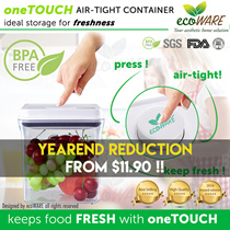 [$11.90 PROMO!! | ecoWARE oneTOUCH Airtight Container | BPA free | Milk | Powder |