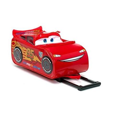 87711e4c2063 (Disney) Disney Pixar Cars 2 Rolling Lightning McQueen Luggage Suitcase