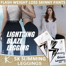 KEEXUENNL Lightning Blaze Legging 5X /Slimming legging/Slimming pants/Burn Fats/Free size/Yoga Pants