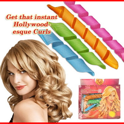 New Magic Leverag Hair Curler Instant Wave Snail Spiral Curl As Seen On Tv Safe