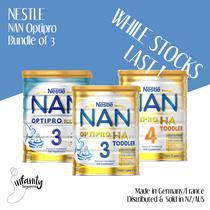 [BUNDLE OF 3] Nestle NAN Optipro / HA Formula Milk Tahap 3 dan 4 / Dijual di Aus dan NZ