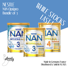 Nestle NAN Optipro/HA Formula Milk Stage 3 and 4 / Sold in Aus and NZ