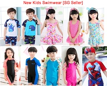 [SG Seller]New kids Swimwear - Fashion Kids Swimsuit / Kids Swimwear Children Swimsuit