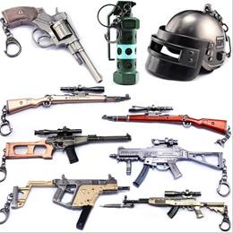 PLAYERUNKNOWN'S BATTLEGROUNDS Sniper 98K AKM Submachine Gun Model Toy Helmet Grenade SUV PUBG