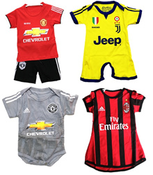 SOCCER / FOOTBALL CLUB ROMPER MANCHESTER UNITED LIVERPOOL ARSENAL AC MILAN BARCA CHELSEA MADRID
