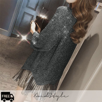 [AndStyle官方旗艦店] 閃亮針織洋裝 /Amella Bling Onepiece Knit Set_235399
