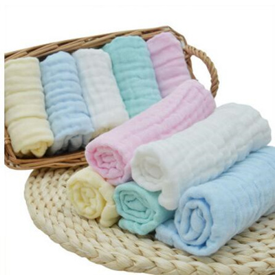 10PCS Baby Feeding Towel Small Handkerchief Gauze Towels Nursing Towel JX