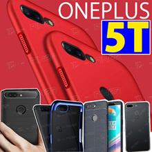 One Plus 5T New Casing Tempered Glass Screen  Protector TPU case for OnePlus 5 5T casing cover