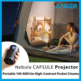 Anker Nebula Capsule Portable Smart Projector 360° Speaker 100 Lumens WIFI Bluetooth Android