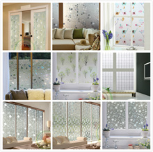 3D Static Removable Privacy Window Film/ Glass Frosted Film /Windows Decoration Sticker Office