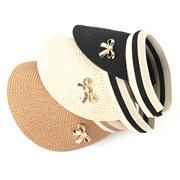PINK DAEJI  Ribbon Sun Cap Sun Cover Hat Straw Hat Outdoors Hiking 8c01df31bc72