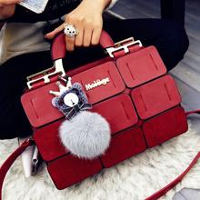 suture Boston bag inclined shoulder ladies hand bag women PU leather handbag sac 2016 woman bags han