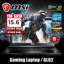 [Brand New] MSI Gaming Laptop / GL62 -i7 / GeForce GTX 1050 Ti / DDR4 8GB / IPS Level Panel