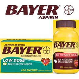 C/[Bayer] 바이엘 아스피린 325mg 500정/81mg 400정 /Genuine Bayer Aspirin/무료배송!!!