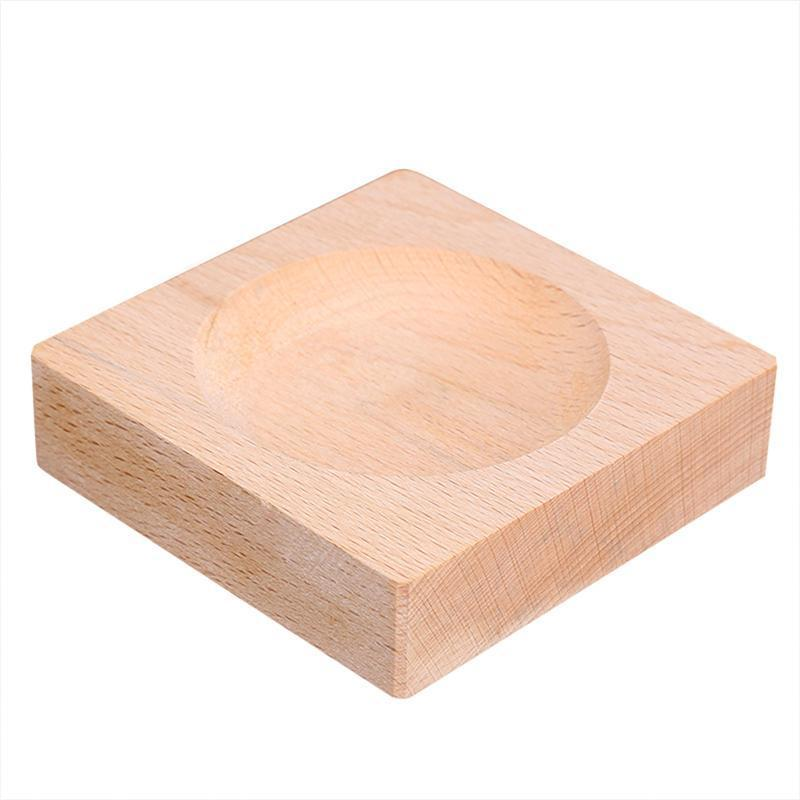 Small Wood Display Stand Base For Weather Forecast Crystal Glass Globe Stone Glass Marble Decoration