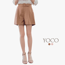 YOCO - Buckled Pleated Shorts-180182