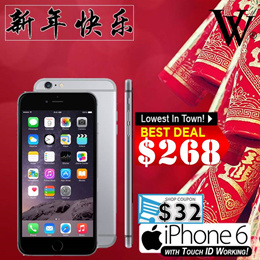 Apply Your Coupon!! iPhone6 / 6Plus Unlocked 4G LTE Smartphone Refurbished [UK set] with Touch ID