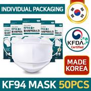 [KOREA No.1 KF94 Mask] Sol+ 50PCS KF94 KFDA Certified / Individual Packaging / Made in KOREA