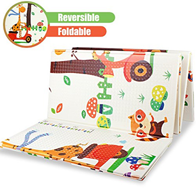 [Yiranmeifushi][YIRAN] PM02002 - Folding Baby Play Mat Reversible XPE Foam  Floor Playmat Large Baby Playroom and Nu