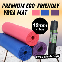 Quality Yoga Mat - Special promotion for 10mm thickness mat - FREE Mesh bag