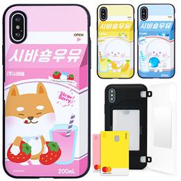 Shiba Can 카드 Mirror Bumper Case★Samsung S10/S9/S8/Plus/S7/Note 9/8/5/Phone XS/Max/XR/8/7/LG V40