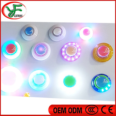 10pcs/lot RGB Illuminated Push Button LED buttons switch for Arcade Game  Cabinet Accessories Machine
