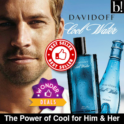 DAVIDOFF COOL WATER EDT for MEN 125ml/ EDT for WOMAN 100ml Deals for only S$150 instead of S$0