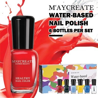 ?SPECIAL GIFT? SET OF 6?MayCreate?Waterbase 6in1 Peelable Nail Polish | Toxic-free Deals for only RM29.9 instead of RM29.9