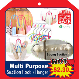 Multi Purpose Suction Hook / W Hanger / Bottle / Can / Cap opener