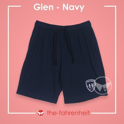 Glen Comfy Tie-Waist Shorts For ManNavy