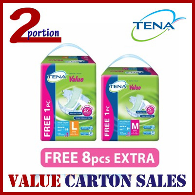 [Ready Stock][Use Qoo10 Coupon][FREE SHIPPING] [FREE 8PCS]TENA VALUE ADULT DIAPERS Deals for only S$79.9 instead of S$0