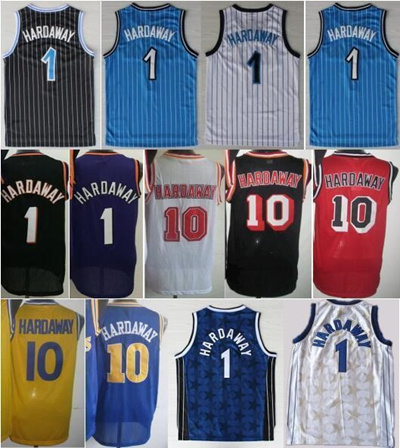 wholesale dealer b2769 6109c High 1 Penny Hardaway Jersey Throwback Shirt Fashion Men Retro Penny  Hardaway Uniforms 10 Home Blue