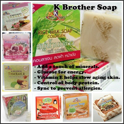[BUY 7 IN 1 SHIPPING FEES!!!] Original K Brother Soap*Rice Milk/Milk  Collagen/Rose Honey/Lemon Honey/Goat Milk
