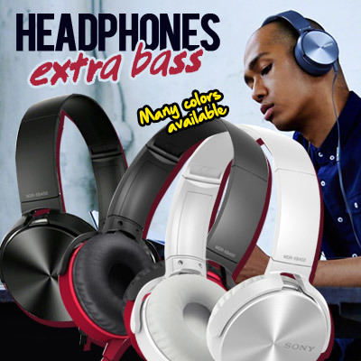 HEADPHONE SONY EXTRA BASS MDR-XB450AP Deals for only Rp75.000 instead of Rp75.000