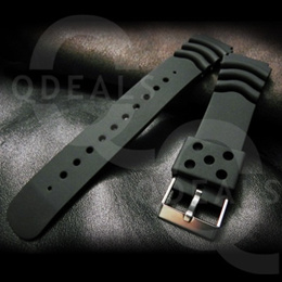 [SINGAPORE STOCK]Mens Accessory Black Rubber Watch Band Strap Military Sports Divers Seiko Casio22mm