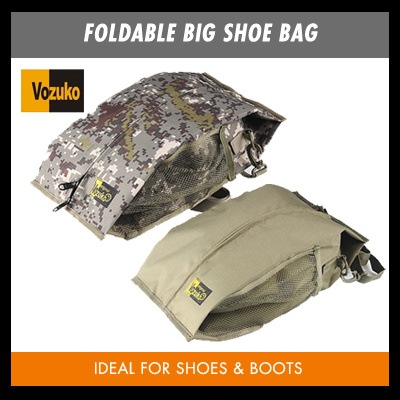 FOLDABLE BIG SHOE BAG ON SALE!BLACK COLOR/UNISEX MEN WOMEN SHOE WITH FREE DELIVERY Deals for only S$29.9 instead of S$0