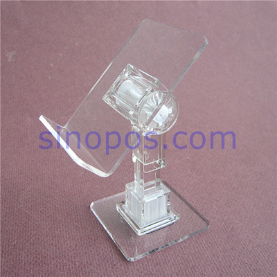 Qoo40 Acrylic Adjustable Cellphone Display Stands Clear Plastic Extraordinary Adjustable Acrylic Display Stands